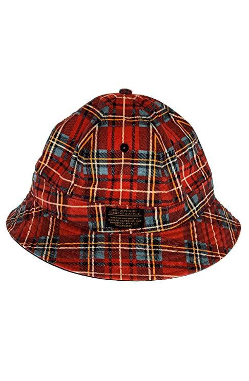 bc1c3d1b28ec4 10 Deep Parrish Smith Bucket Hat L Red Plaid  Amazon.co.uk  Clothing