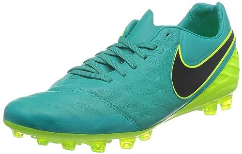cheap for discount ec890 8c77c Nike Tiempo Legacy II AG-R, Botas de fútbol para Hombre, Verde (Clear  Jade Black-Volt), 42 EU  Amazon.es  Zapatos y complementos