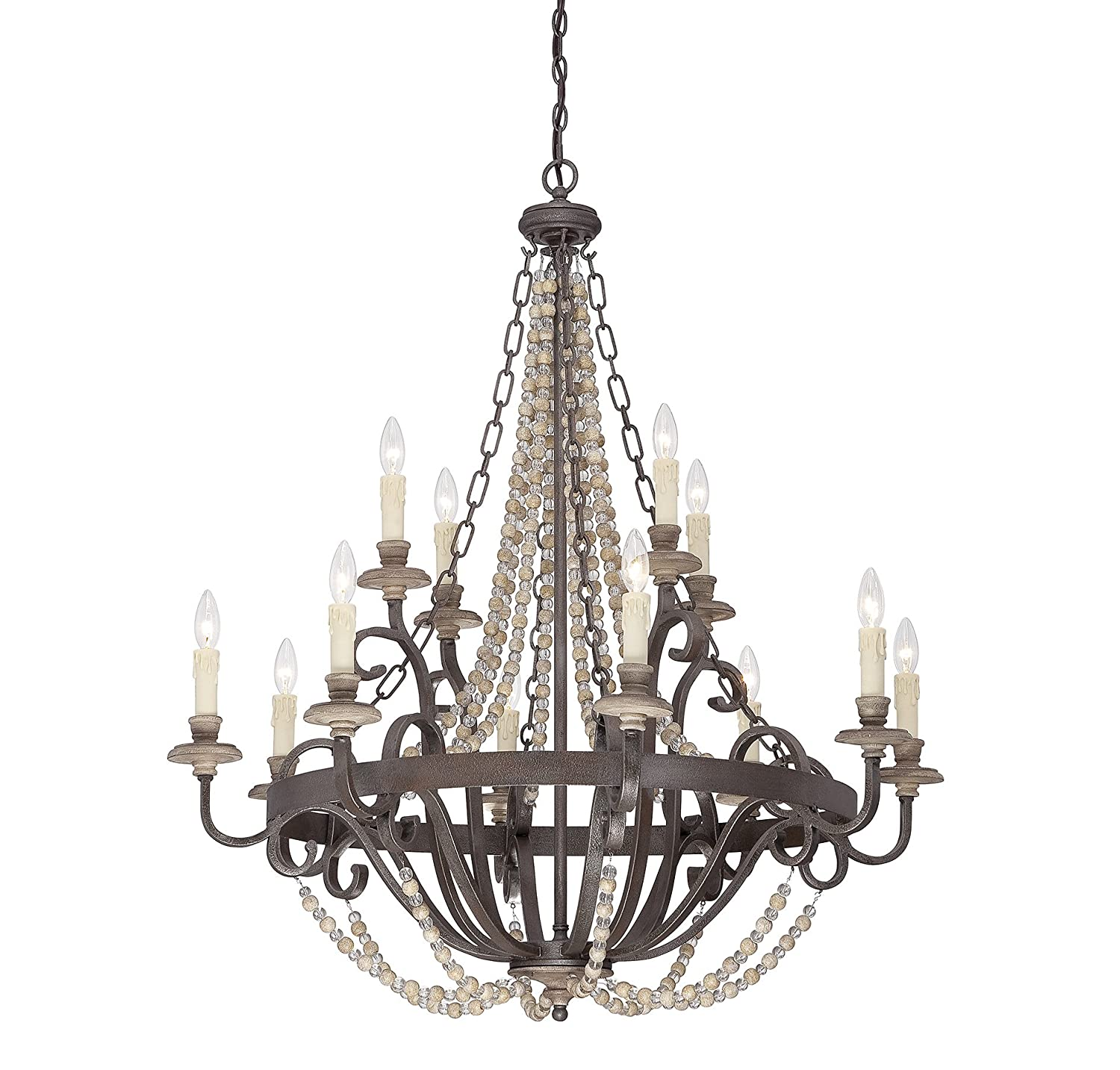Savoy House 1-7405-12-39 Mallory 12-Light Chandelier in Fossil Stone Finish