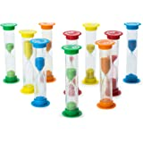 Sand Timer Set 10pcs Pack - 2x (30 Sec, 1 Min, 2 Min, 3 Min, 5 Min) - Colorful Set of Hour Glasses for Kids, Adults - Colors: Blue, Green, Red