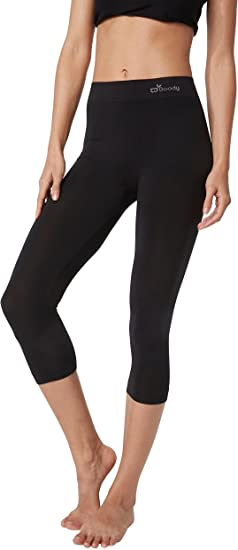 Womens Summer Cotton//Viscose Cropped Leggings 3//4 Length All Colour /& Sizes*3//4L