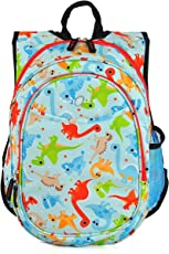 Obersee Kid's All-in-One Pre-School Backpacks with Integrated Cooler, Dinosaurios, Una talla