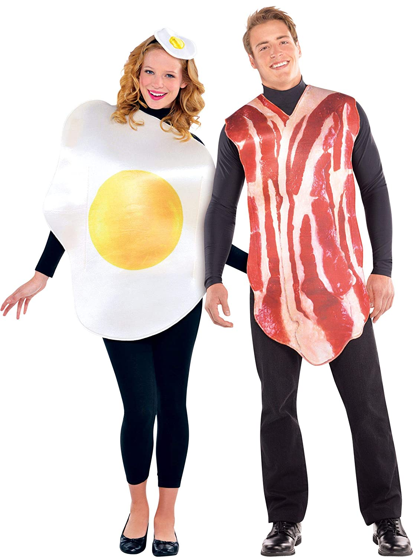 Disfraz de Huevo y disfraz de Bacon 2x1