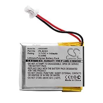 vhbw Litio polímero batería 140mAh (3.7V) para Auriculares inalámbricos Cascos Bang & Olufsen