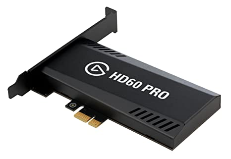 Elgato Game Capture HD60 Pro - Stream and record in 1080p60, superior low  latency technology, H 264 hardware encoding, PCIe
