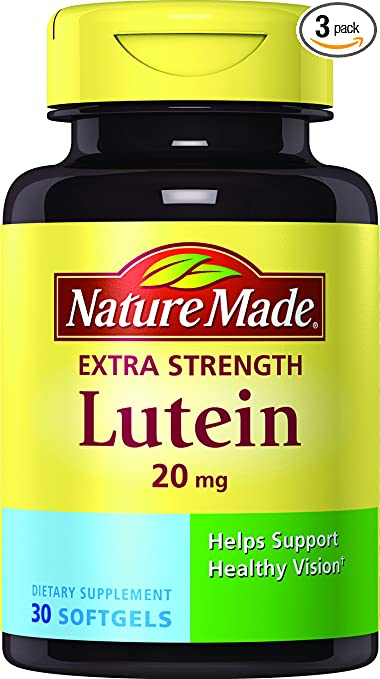 Nature Made Extra Strength Lutein 20 mg Softgels 3 Pack