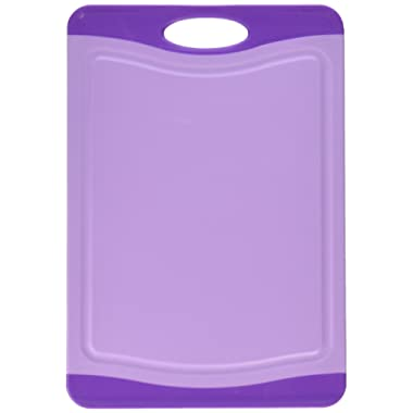 Neoflam 11  Plastic Cutting Board in Purple - BPA Free, Non Slip, Dishwasher Safe, Microban Antimicrobial Protection