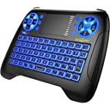 Mini Wireless Keyboard Dootoper 2.4GHz with Touchpad Mouse Combo, Rechargable Li-ion Battery & Multi-Media Handheld Remote for Google Android TV Box,PS3,PC,PAD