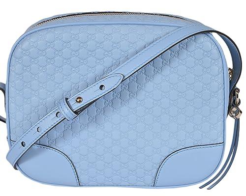 f976c0800ac Gucci Women s Leather Micro GG Guccissima Small BREE Crossbody Purse Bag  (Mineral Blue)  Amazon.ca  Shoes   Handbags