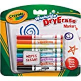 Crayola Washable DryErase Markers Hang Pack 8's - Bold and bright colours!