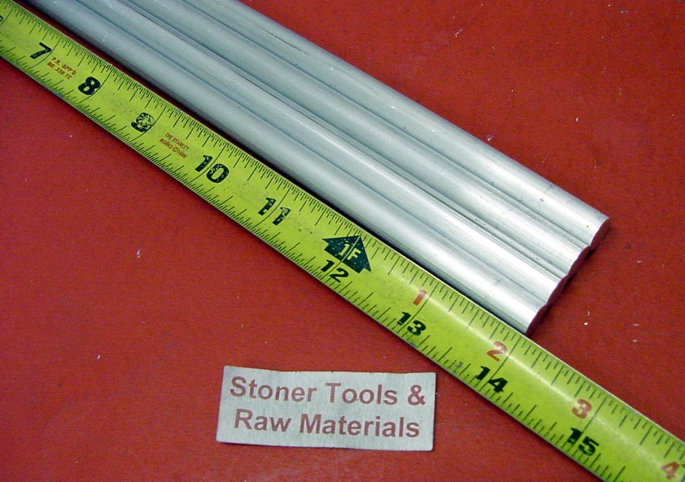 """4 Pieces 1/2"""" Aluminum 6061 Round Rod 14"""" Long +.07""""/-0 Solid T6511 Extruded Lathe Bar Stock 81A0zmgN5mL"""