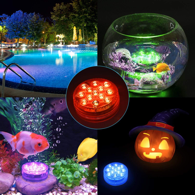 LED RGB Unterwasser Aquarium Tauch Spot Licht Teich Pool Beleuchtung Lampe Timer