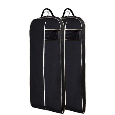 MISSLO Breathable 54  Suit Dress Black Garment Bag Gusseted, Pack of 2