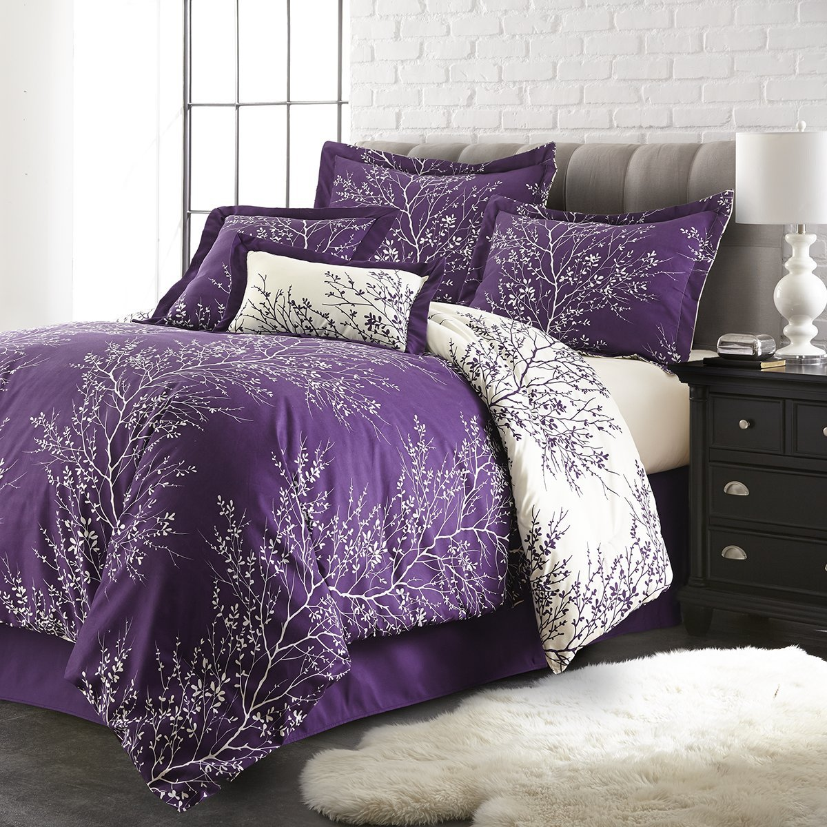 sheets uncategorized queen bedroom sets comforter size bedding of and large fascinating bed purple white decor in