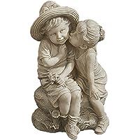 Design Toscano Kissing Kids Boy and Girl Garden Decor Statue