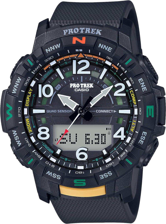 Casio Men's Pro Trek Bluetooth Connected Quartz Sport Watch with Resin Strap, 22.2 (Model: PRT-B50-1CR)