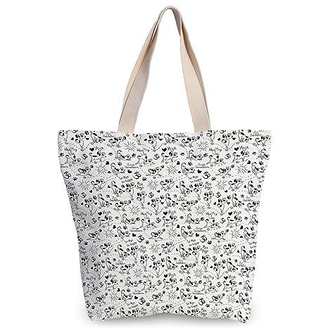 Amazon.com: iPrint Unique Durable Canvas Tote Bag,Yoga ...
