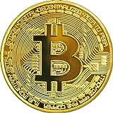 fisici Bitcoin moneta in rame gold
