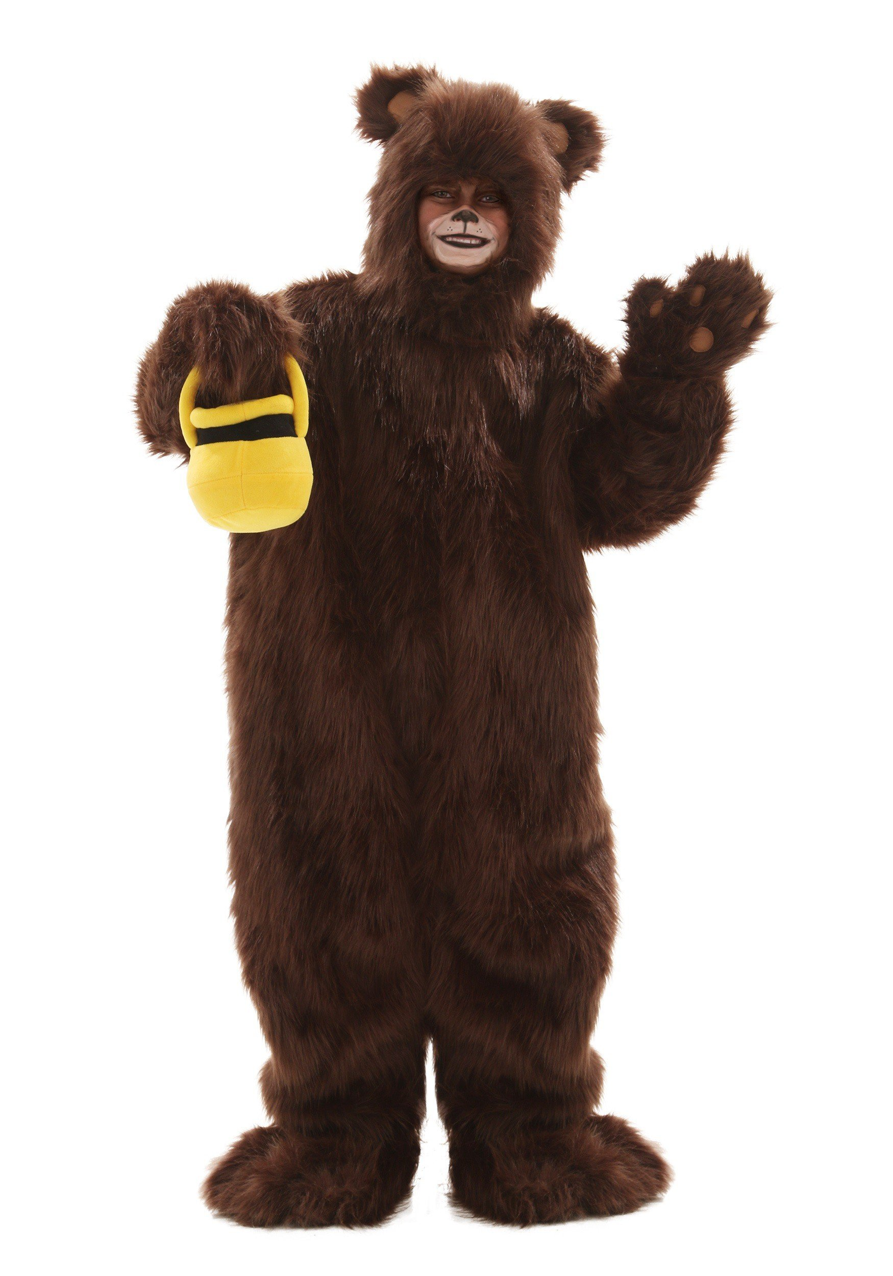 Child Deluxe Furry Brown Bear Costume Large