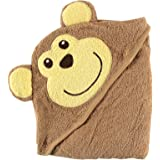 Luvable Friends Animal Face Hooded Woven Terry Baby Towel, Monkey (Discontinued by Manufacturer)