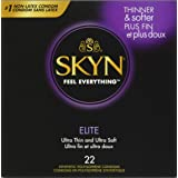 SKYN Elite Condoms, Ultra Thin & Ultra Soft, Synthetic Polyisoprene, Non Latex, 22 Count Box
