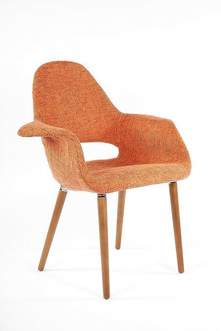 amazon com control brand the organic chair orange kitchen dining