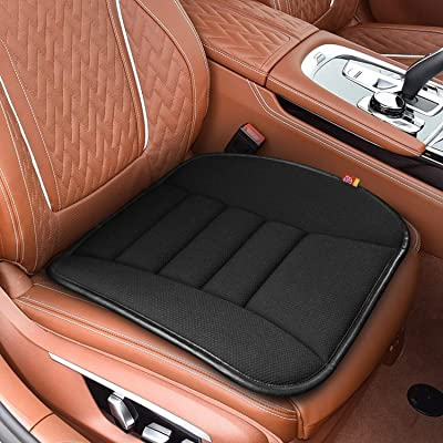 RaoRanDang Breathable Car Seat Cushions Pad Memory Foam Seat Cushion for Auto Supplies Office Chair (Black): Automotive
