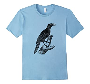 Mens Common Grackle Bird Print T Shirt 2XL Baby Blue
