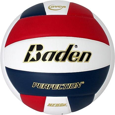 Baden Perfection - Balón de Voleibol de Piel, Color Rojo/Blanco ...