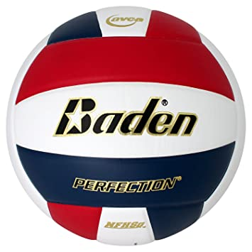 Baden Perfection - Balón de Voleibol de Piel, Color Rojo/Blanco ...