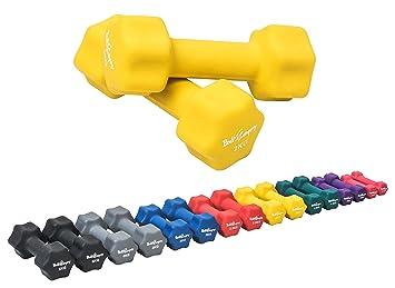 Bad Company - Mancuernas de neopreno para gimnasia, 4 kg (2 kg por ...