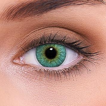 """kosten charm vielfältig Stile 2019 echt Stark deckende natürliche blaue Kontaktlinsen farbig """"Crystal Blue"""" +  Behälter von LENZOTICA I 1 Paar (2 Stück) I DIA 14.00 I ohne Stärke I 0.00  ..."""