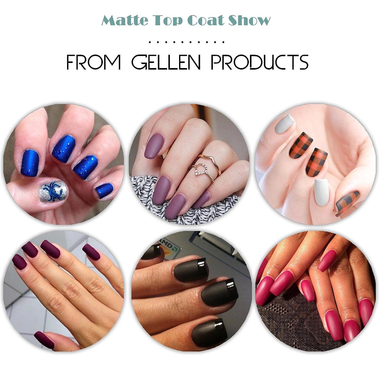 Amazon.com : Gellen Matte Top Coat for Gel Nail Polish : Beauty