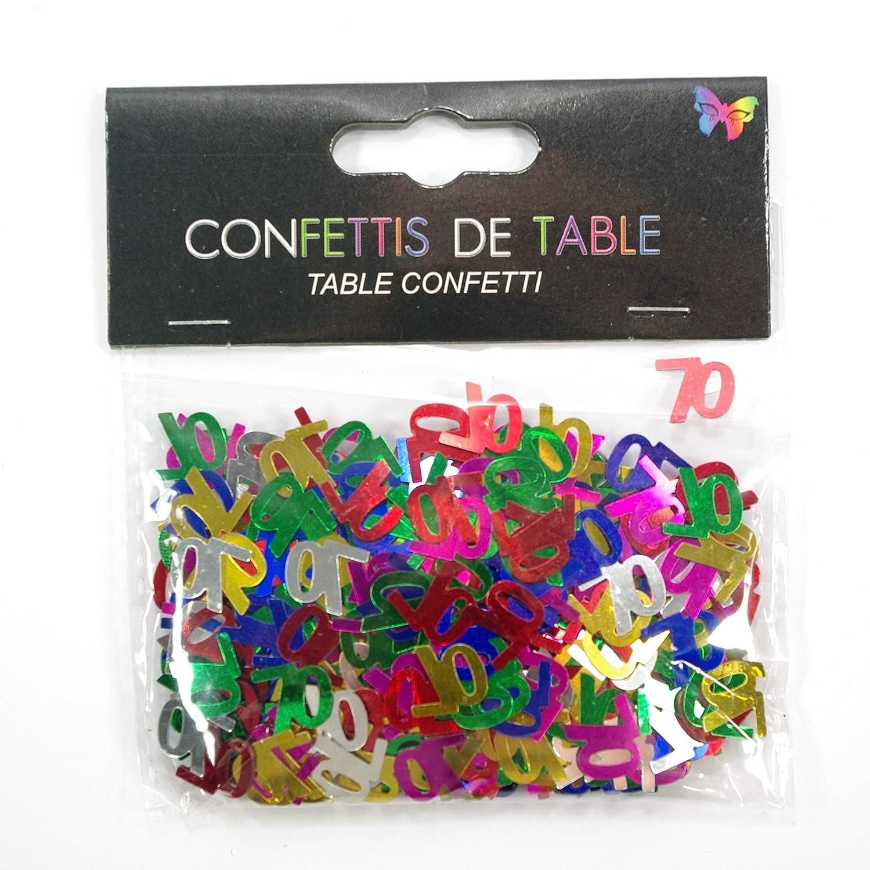 AEC - Coriandoli di tavolo compleanno 70 anni (14 g) Aptafêtes