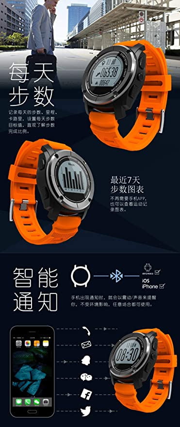 Amazon.com: XXxx S928 GPS Outdoor Sports Smart Watch Men ...