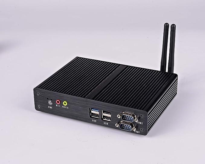 Celeron J1900 Quad core 2.4GHz Mini Box PC Fanless PC Nano PC htpc with 4G RAM 60G SSD Support Linux/windows USB3.0 HDMI VGA Dual NIC 2*Lan 2 serial Port ...