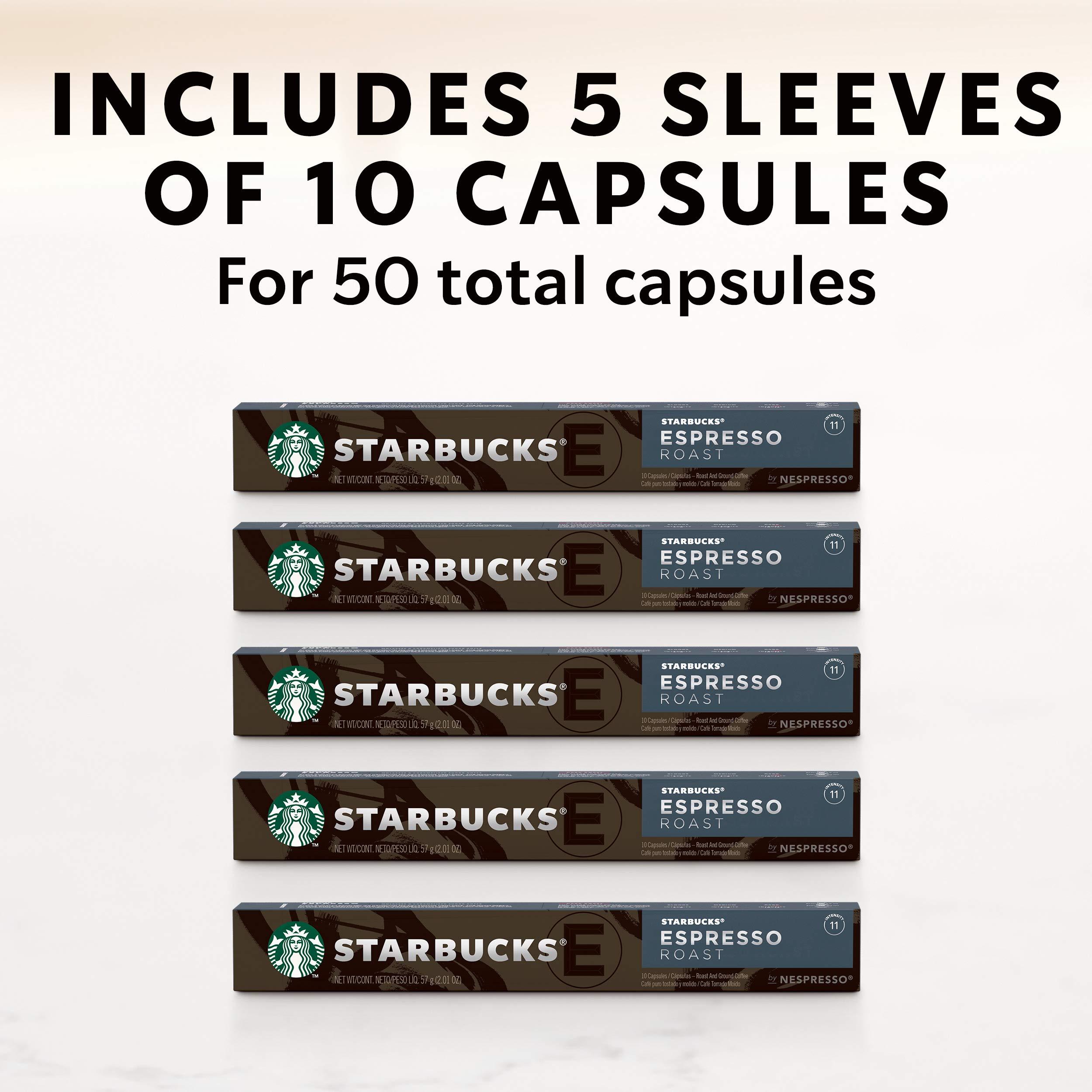 Starbucks by Nespresso, Espresso Dark Roast (50-count single serve capsules, compatible with Nespresso Original Line System) by Starbucks for Nespresso (Image #7)