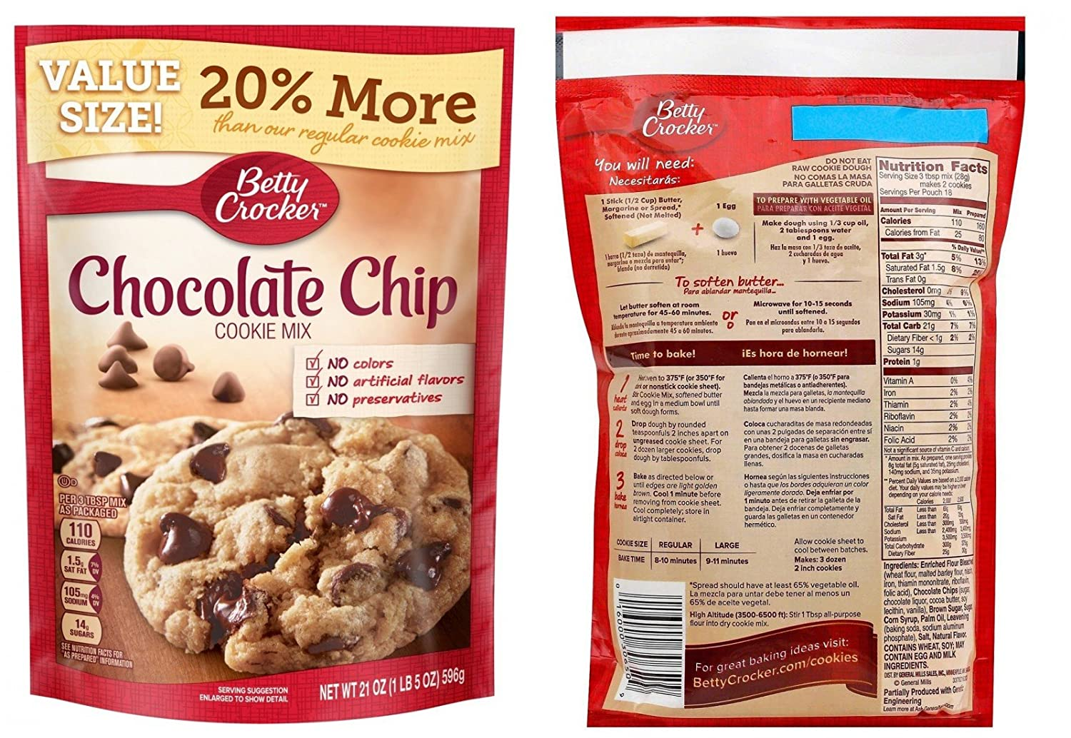 Amazon.com : Assorted Betty Crocker Holiday Baking Cookie Mix Variety Bundle - Sugar, Chocolate Chip, Peanut Butter (Value Packs), Snickerdoodle & Oatmeal ...