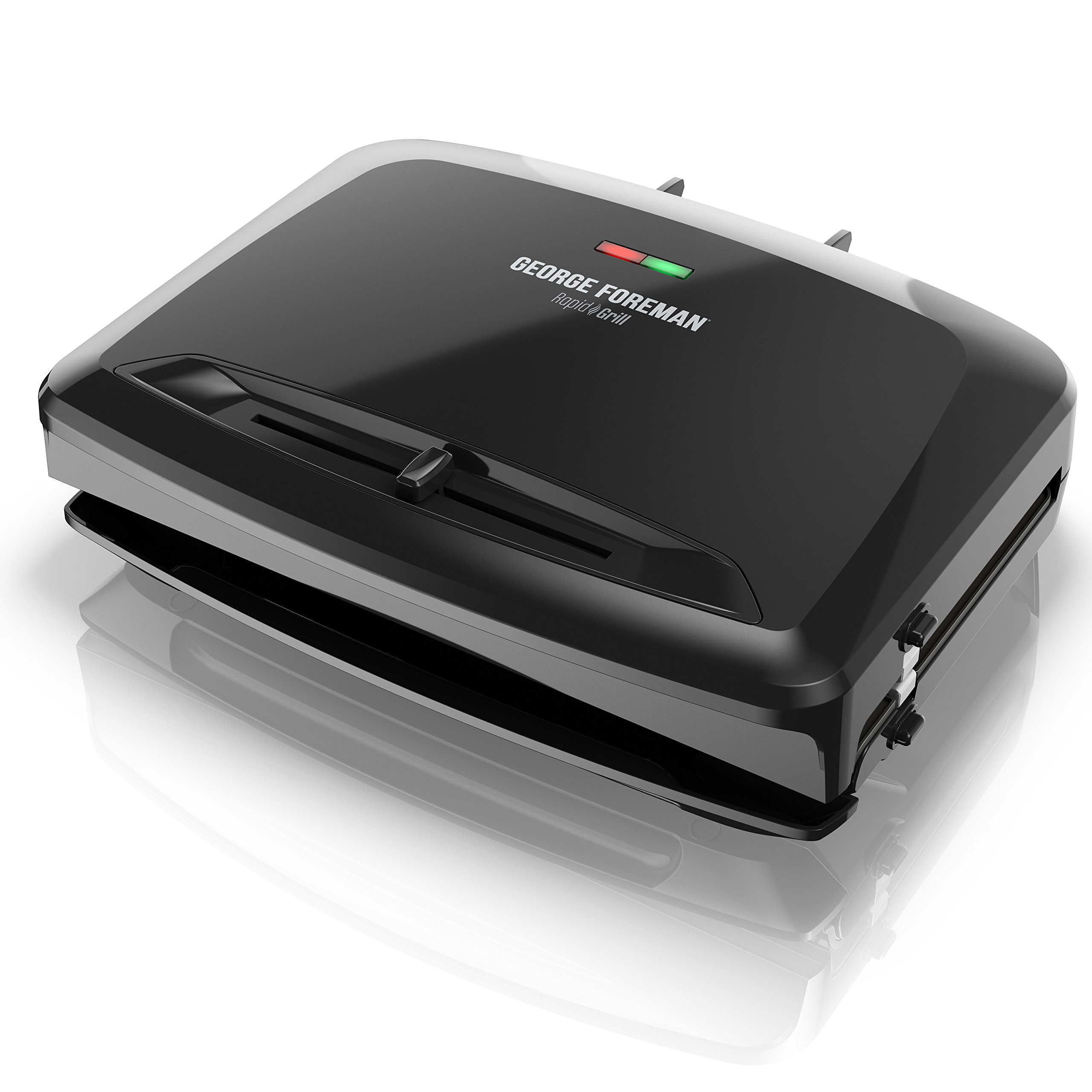 George Foreman Rapid Grill Series, 5-Serving Removable Plate Electric Indoor Grill and Panini Press, Black, RPGV3801BK by George Foreman