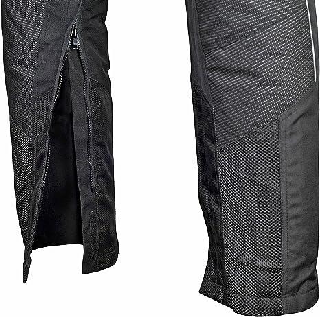 WICKED STOCK Mens Motorcycle Mesh Pants Full Leg Zipper Gray