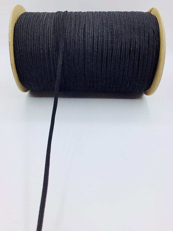 Trimplace Black 3//16 Braided Elastic Stretch 24 Yards