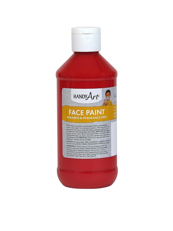 Handy Art 556-020 Face Paint, Red, 8-Ounce