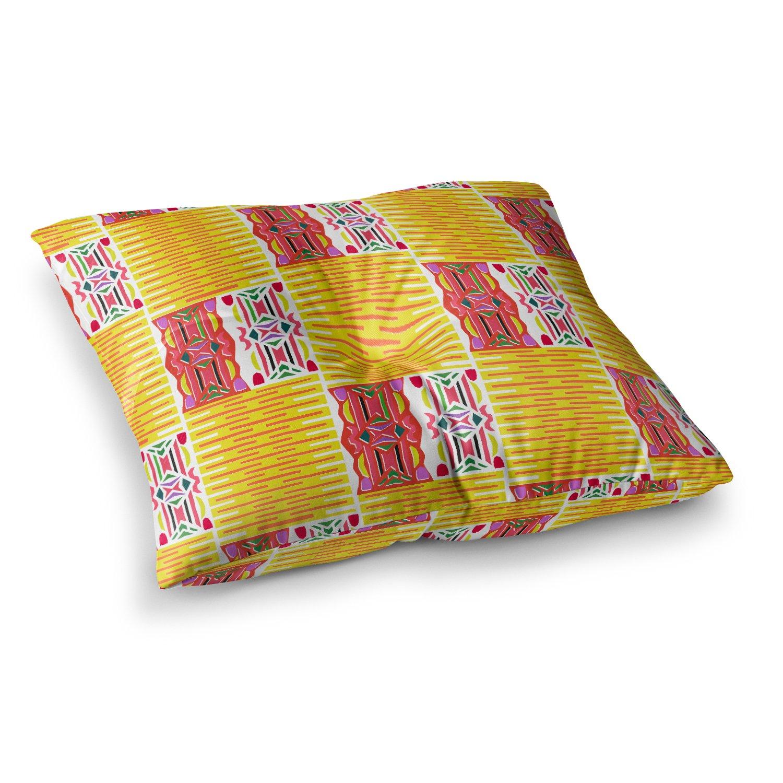 Kess InHouse Miranda MOL Cool Summer Gold Coral, 23' x 23' Square Floor Pillow