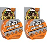 Gorilla Tape Crystal Clear Duct Tape 1.88 inch x 9 yd, 2 Pack