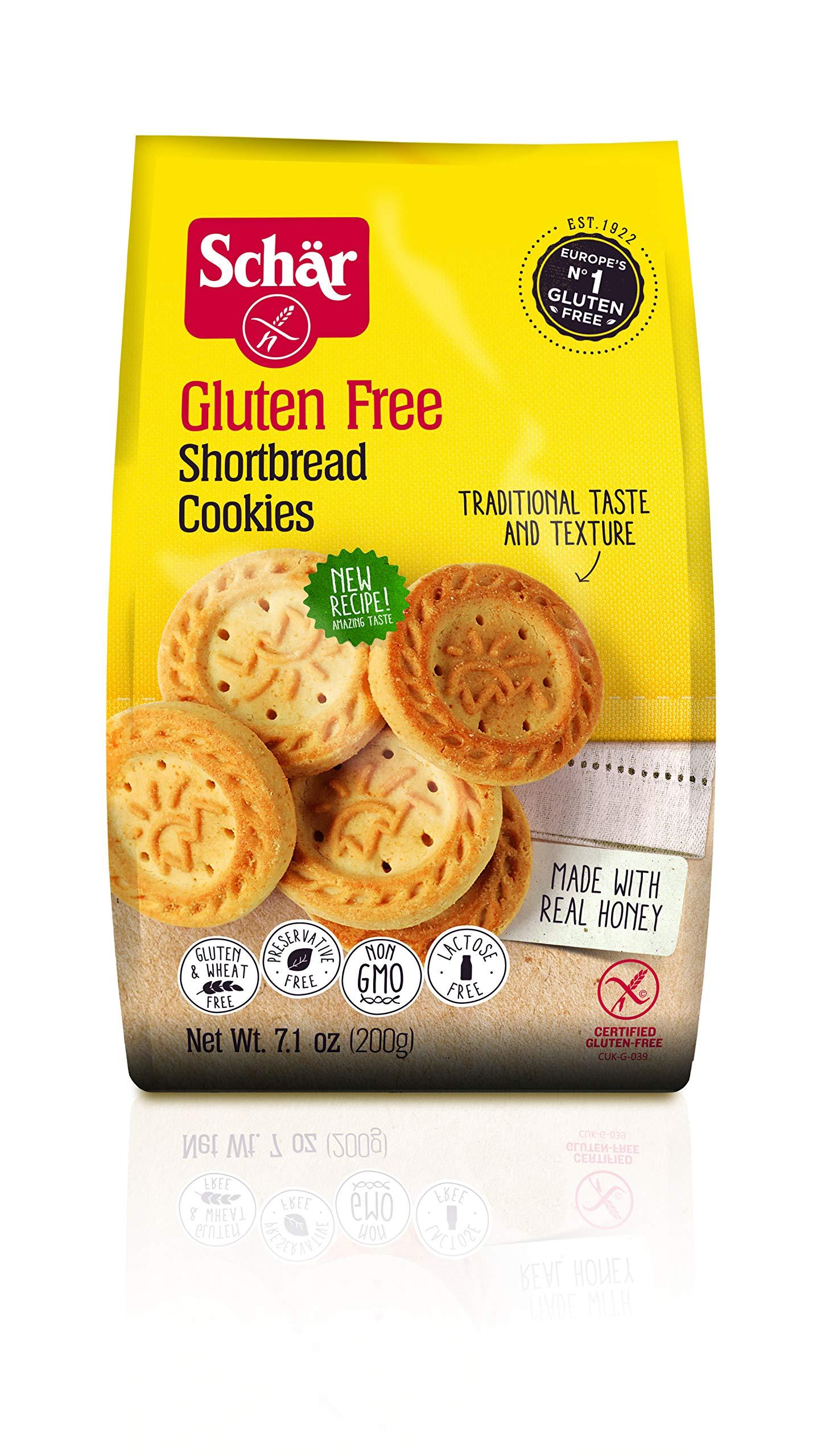 Schär Gluten Free Shortbread Cookies, 7 oz, 6-Pack