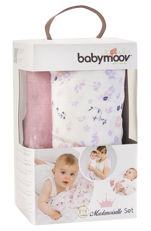 Babymoov A021004 Moltont/ücher-Set wei/ß//muster Mademoiselle