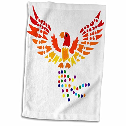 3D Rose TWL/_244594/_1 Fun Colorful Phoenix Rising Abstract Art Towel 15 x 22 Multicolor