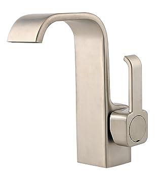 Pfister Skye Single Control 4u0026quot; Centerset Bathroom Faucet, Brushed  Nickel