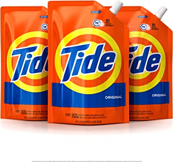 3-Pack Tide HE Turbo Clean Liquid Laundry Detergent Pouches