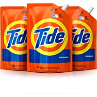 Tide Laundry Detergent Liquid, Original Scent, HE Turbo Clean, Pack of 3 Smart Pouches, 93 Loads Total
